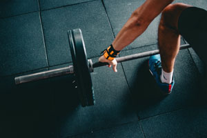 lifting weights - menu athletics image